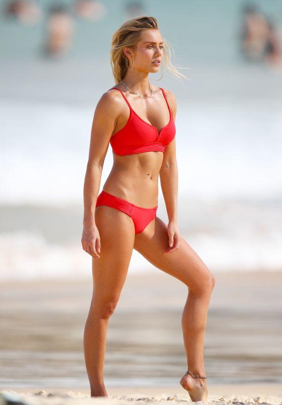 Elyse Knowles in Bikini - Photoshoot on Bondi Beach in Sydney