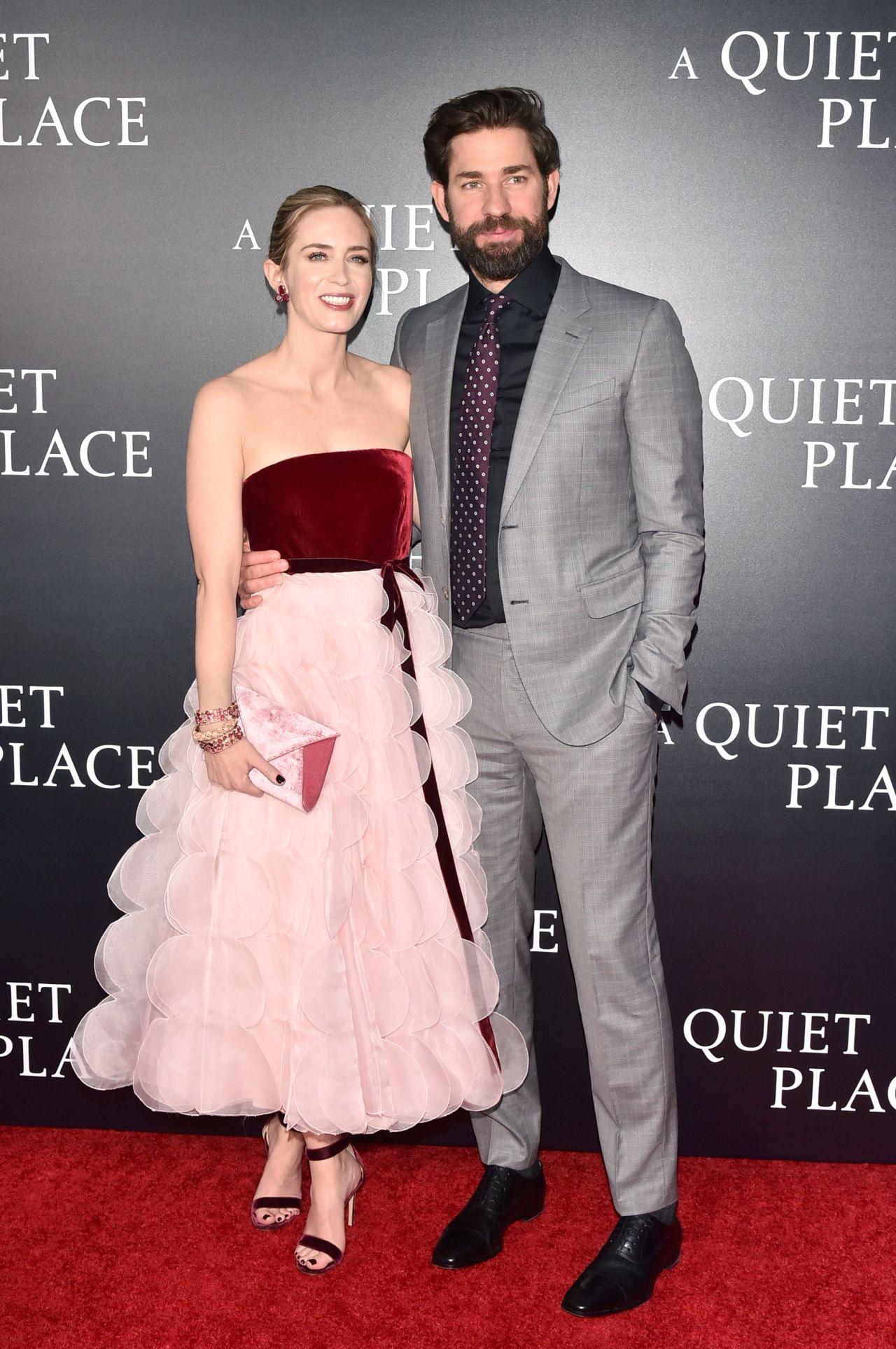 Emily Blunt And John Krasinski A Quiet Place Premiere