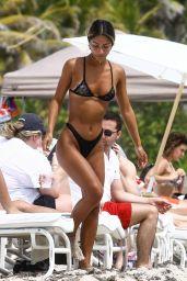Erika Wheaton in a Black Bikini on the Beach in Miami 03/31/2018