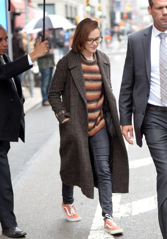 Evan Rachel Wood - Leaving Her New York City Hotel 04/19/2018