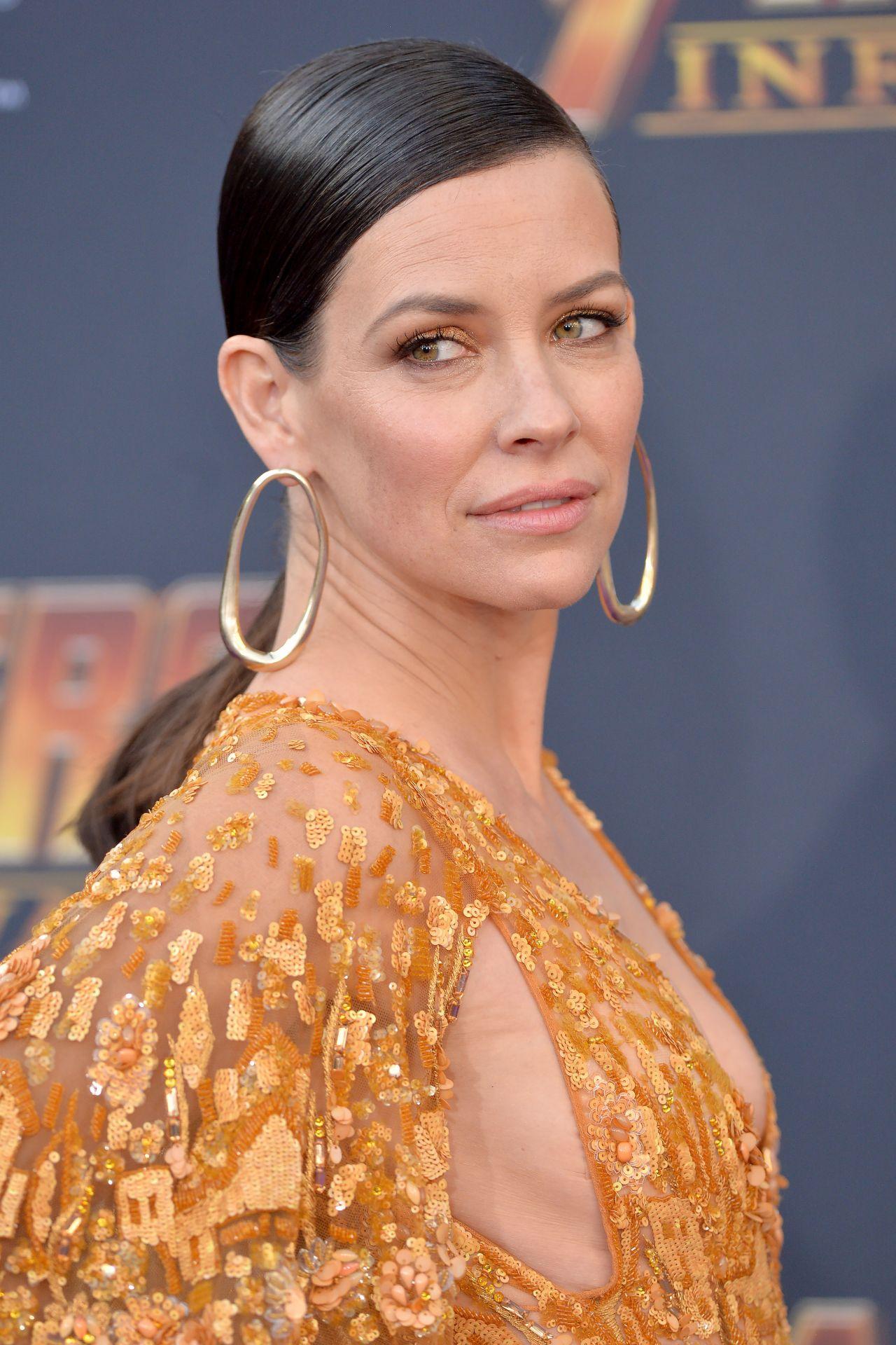 Evangeline Lilly Avengers Infinity War Premiere In La