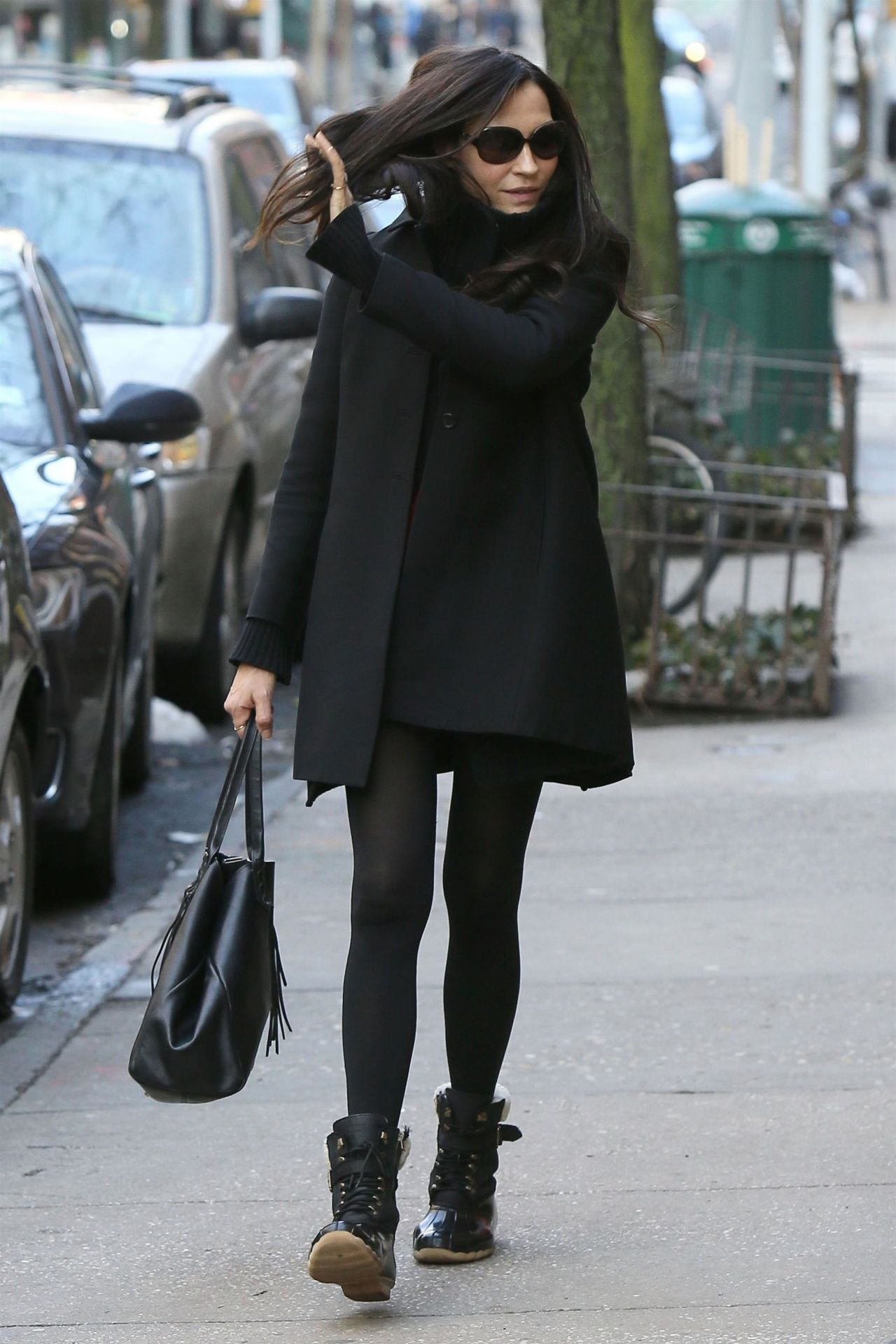 Famke Janssen Street Fashion Soho In Nyc 04 02 2018