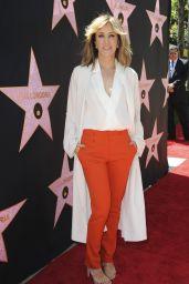 Felicity Huffman – Eva Longoria Hollywood Walk of Fame in LA