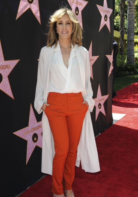 Felicity Huffman – Eva Longoria Hollywood Walk of Fame in LA