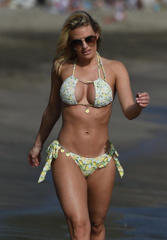 Ferne McCann and Danielle Armstrong in Bikinis in Spain 04/27/2018