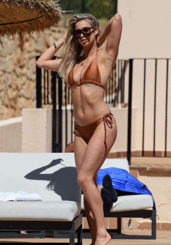 Ferne McCann in Bikini on Holiday in Marbella, April 2018
