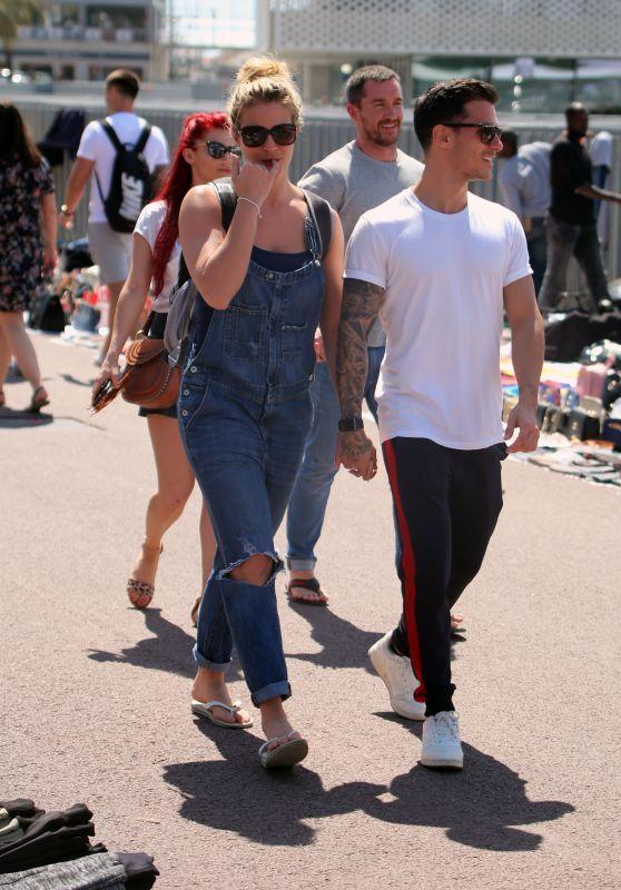 Gemma Atkinson and Boyfriend Gorka Marquez Sightseeing in Barcelona 04/18/2018