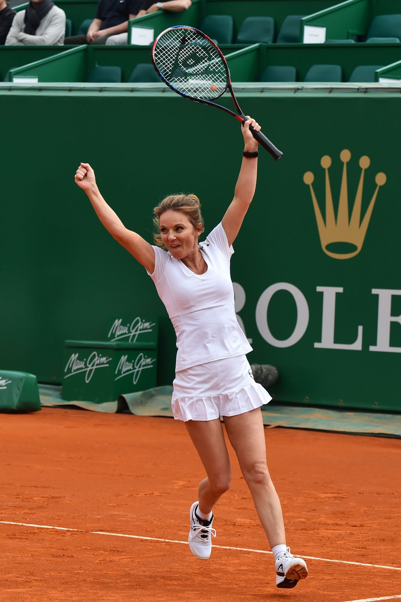 Geri Halliwell Charity Tennis Event During Rolex Masters