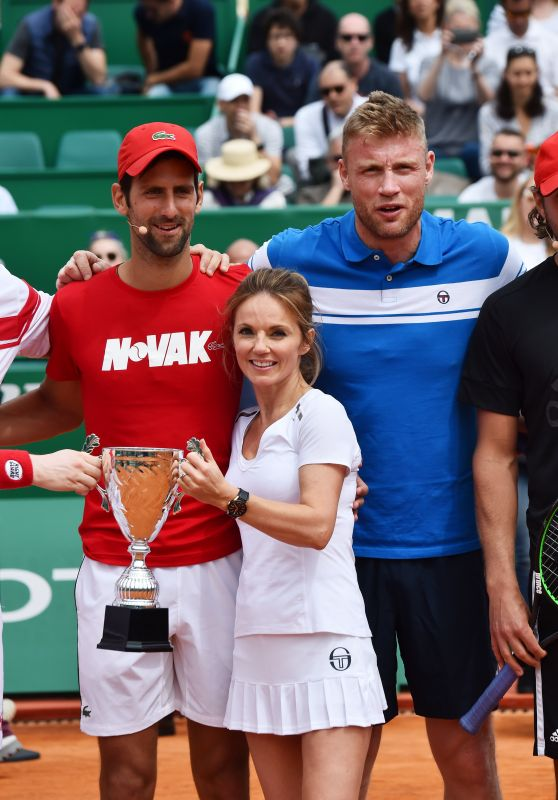 Geri Halliwell - Charity Tennis Event During Rolex Masters Tournament in Monte-Carlo 04/14/2018