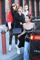 Gigi Hadid and Bella Hadid at Soho House Restaurant in NYC 04/22/2018