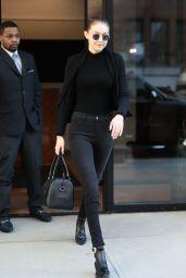 Gigi Hadid in All Black in NYC 04/11/2018