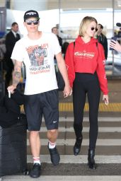 Hailey Clauson - LAX in Los Angeles 04/06/2018