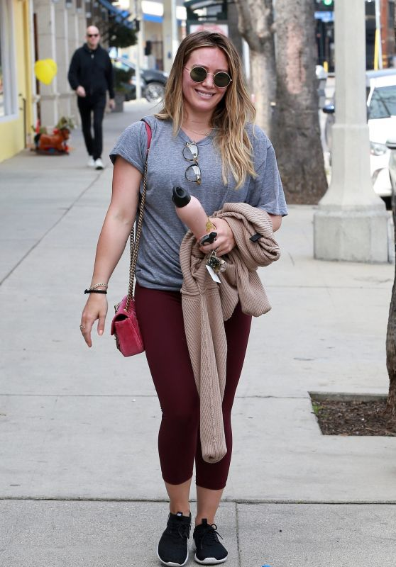 Hilary Duff in Tights - Going to the Gym in Los Angeles 03/31/2018