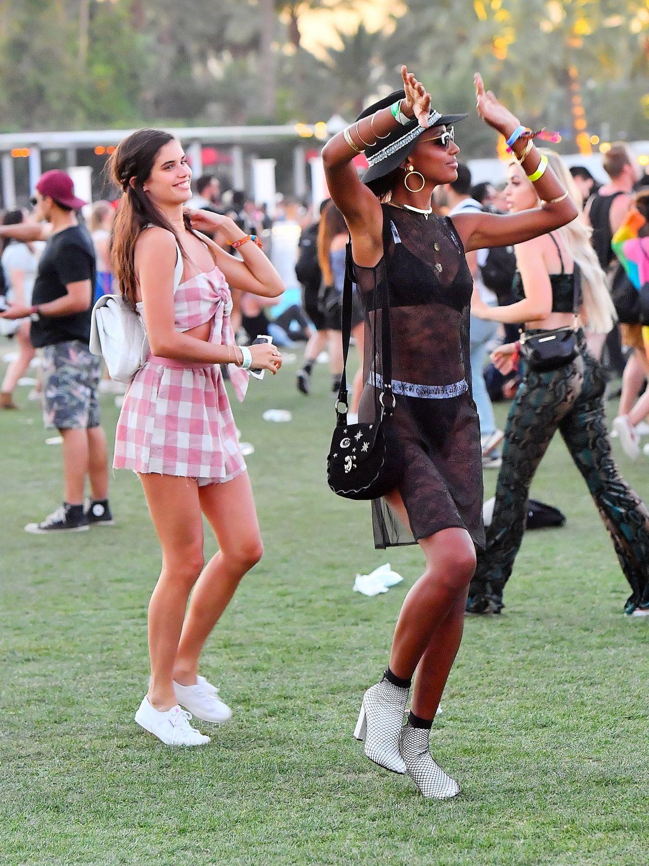 Jasmine Tookes And Sara Sampaio Coachella Festival In