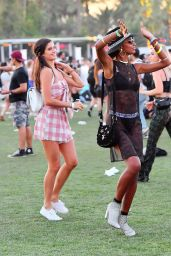 Jasmine Tookes and Sara Sampaio - Coachella Festival in Palm Springs 04/14/2018
