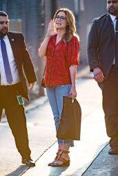Jenna Fischer Arrive to Appear on Jimmy Kimmel Live! in LA 04/02/2018
