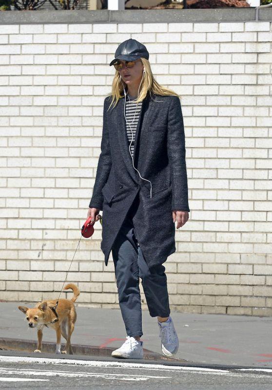 Jennifer Lawrence - Walking Her Dog in NYC, April 2018