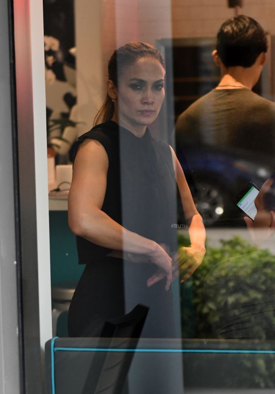 Jennifer Lopez at Fitness Center TruFusion in Miami