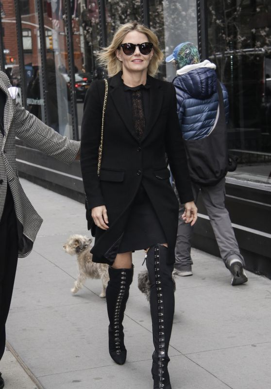 Jennifer Morrison in all Dark Ensemble in NYC 04/17/2018