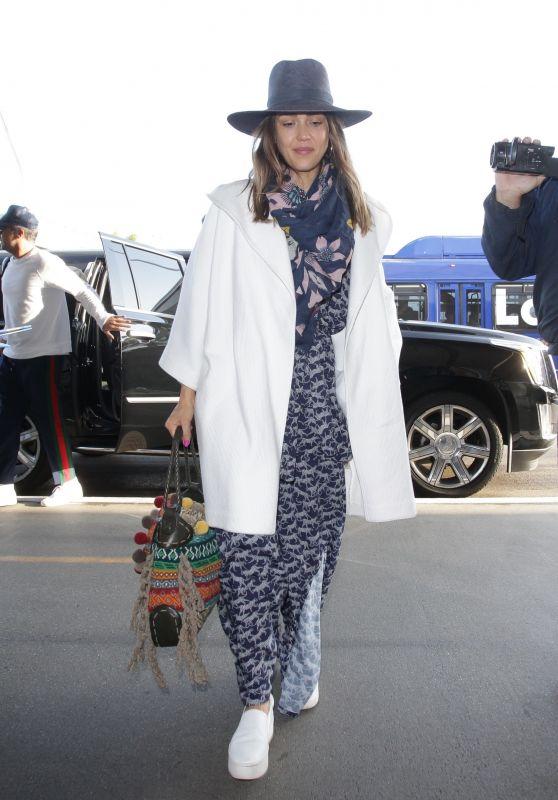 Jessica Alba at LAX Airport in LA 04/29/2018