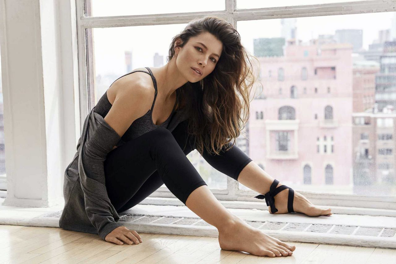 jessica biel photoshoot for her signature apparel
