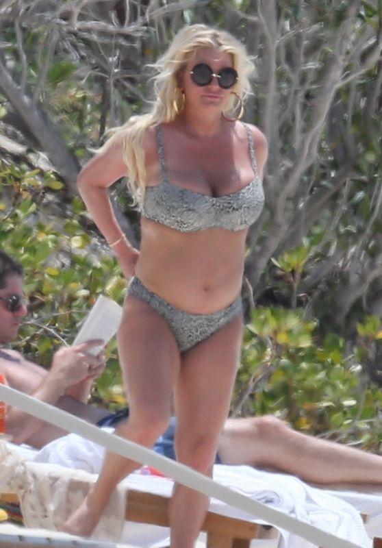 Jessica Simpson Bikini Candids - Bahamas 04/27/2018