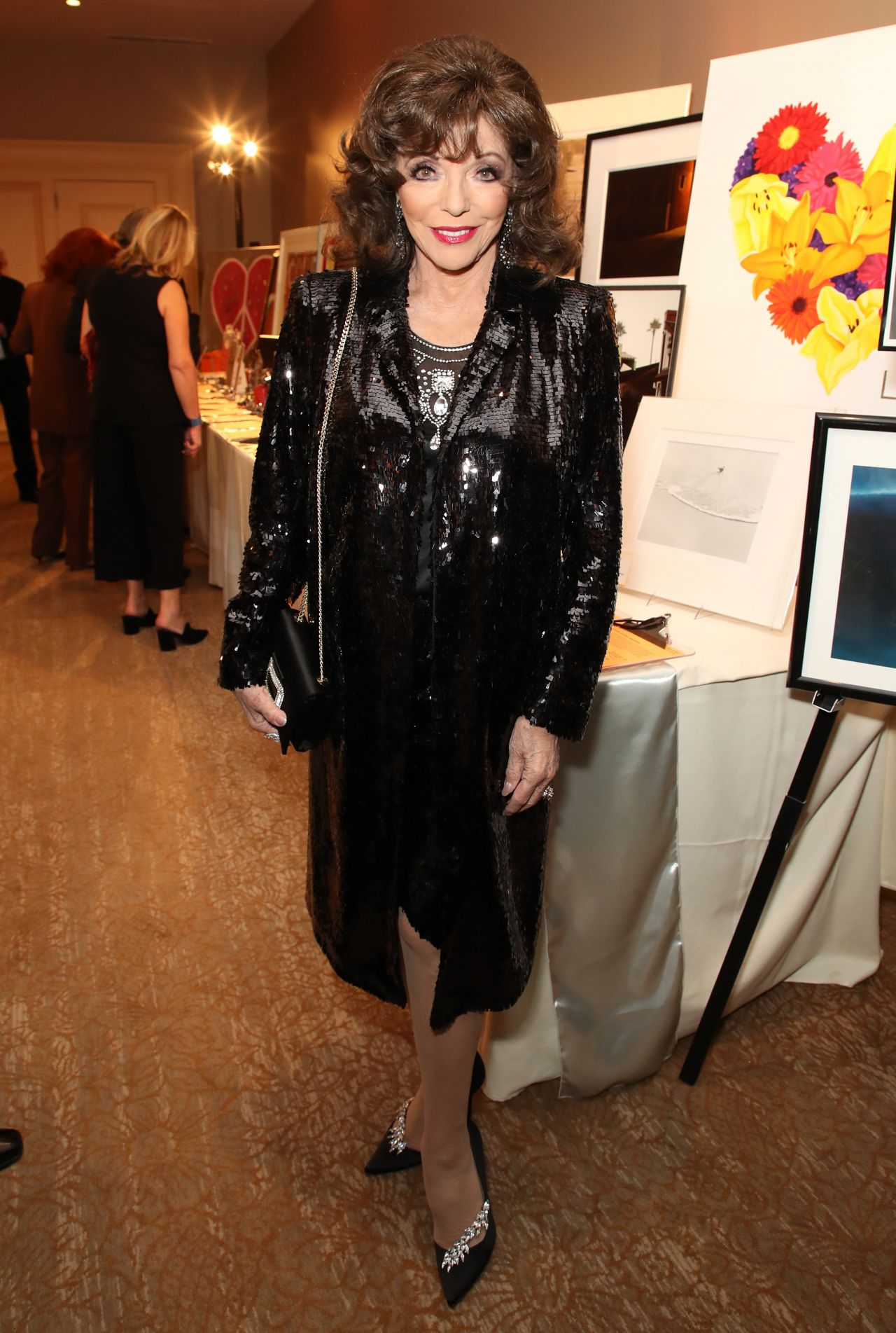 Joan Collins 2018 Race To Erase Ms Gala In Beverly Hills