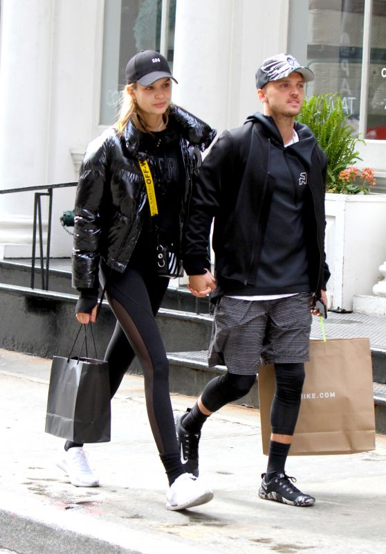 Josephine Skriver and Her Boyfriend Alexander DeLeon Shopping in NYC 04/06/2018