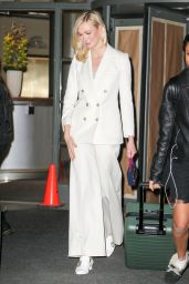 Karlie Kloss in White Outside The Bowery Hotel in Tribeca NYC