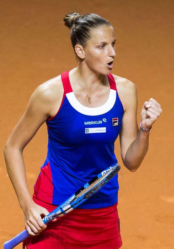 Karolina Pliskova – FED Cup, Women's Semi-Final in Stuttgart 04/21/2018