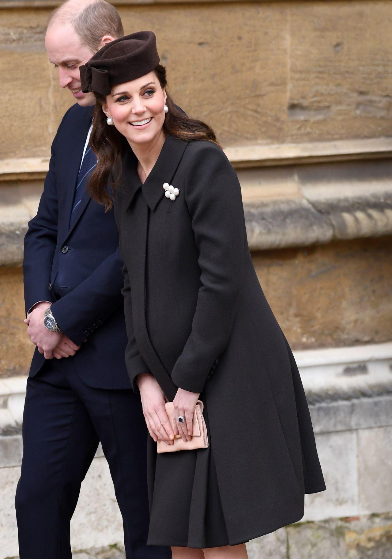 Kate Middleton Easter Service In Windsor England 04 01 2018