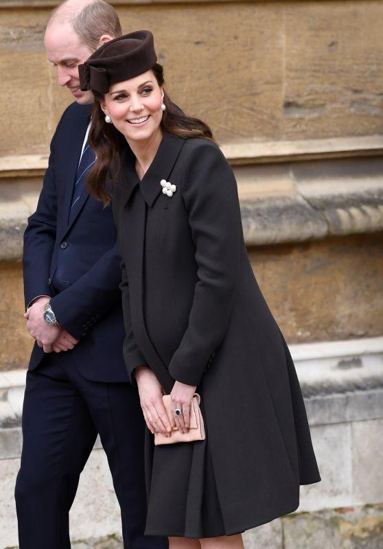 Kate Middleton - Easter Service in Windsor, England 04/01/2018