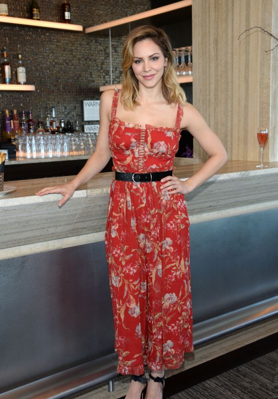 Katharine McPhee in a Floral Dress - Bar SixtyFive at Rainbow Room in NYC