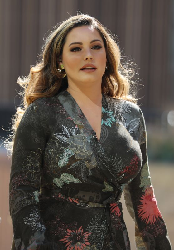 Kelly Brook - Filming This Morning in London 04/19/2018