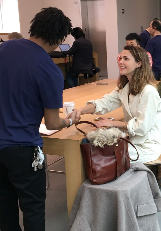 Keri Russell at the Apple store in Manhattan