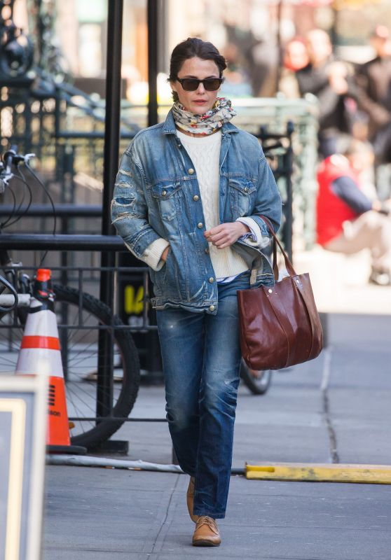 Keri Russell in Casual Outfit - Brooklyn 04/20/2018