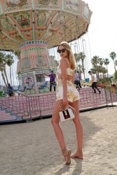 Kimberley Garner at Coachella in the VIP Area of Revolve in Los Angeles 04/17/2018
