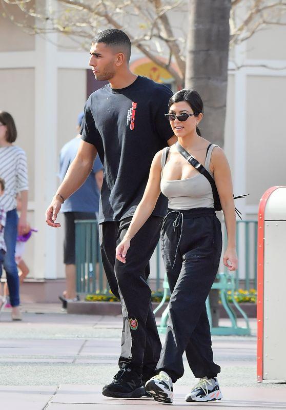 Kourtney Kardashian at Disneyland in Anaheim 04/21/2018