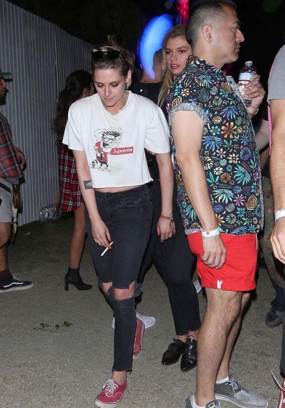 Kristen Stewart and Stella Maxwell - Coachella 2018 Indio