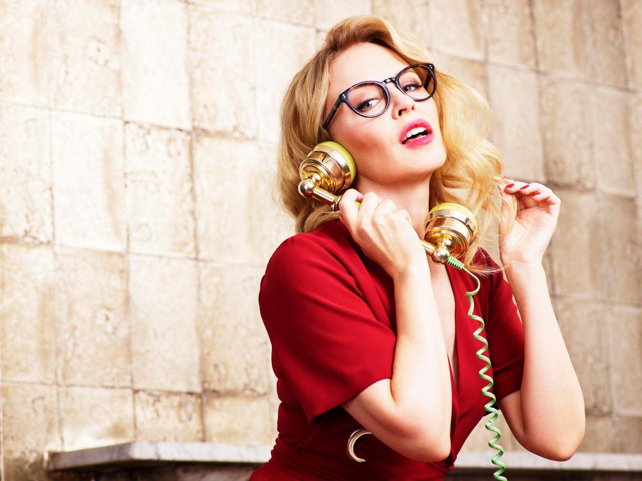 Kylie Minogue New Specsavers Range Photoshoot April 2018