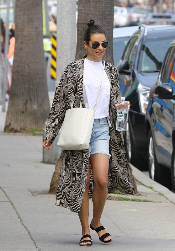 Lea Michele - Arrives to All Year Round Clothing Store in Los Angeles, April 2018