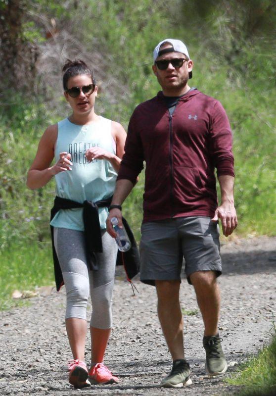 Lea Michele in Leggings - Goes For a Hike in LA 04/08/2018