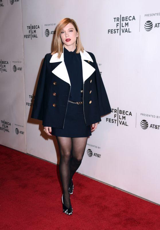 """Lea Seydoux - """"Zoe"""" Premiere at Tribeca Film Festival in NYC"""