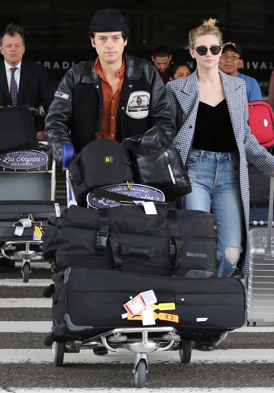 Lili Reinhart and Cole Sprouse - LAX Airport in LA 04/04/2018