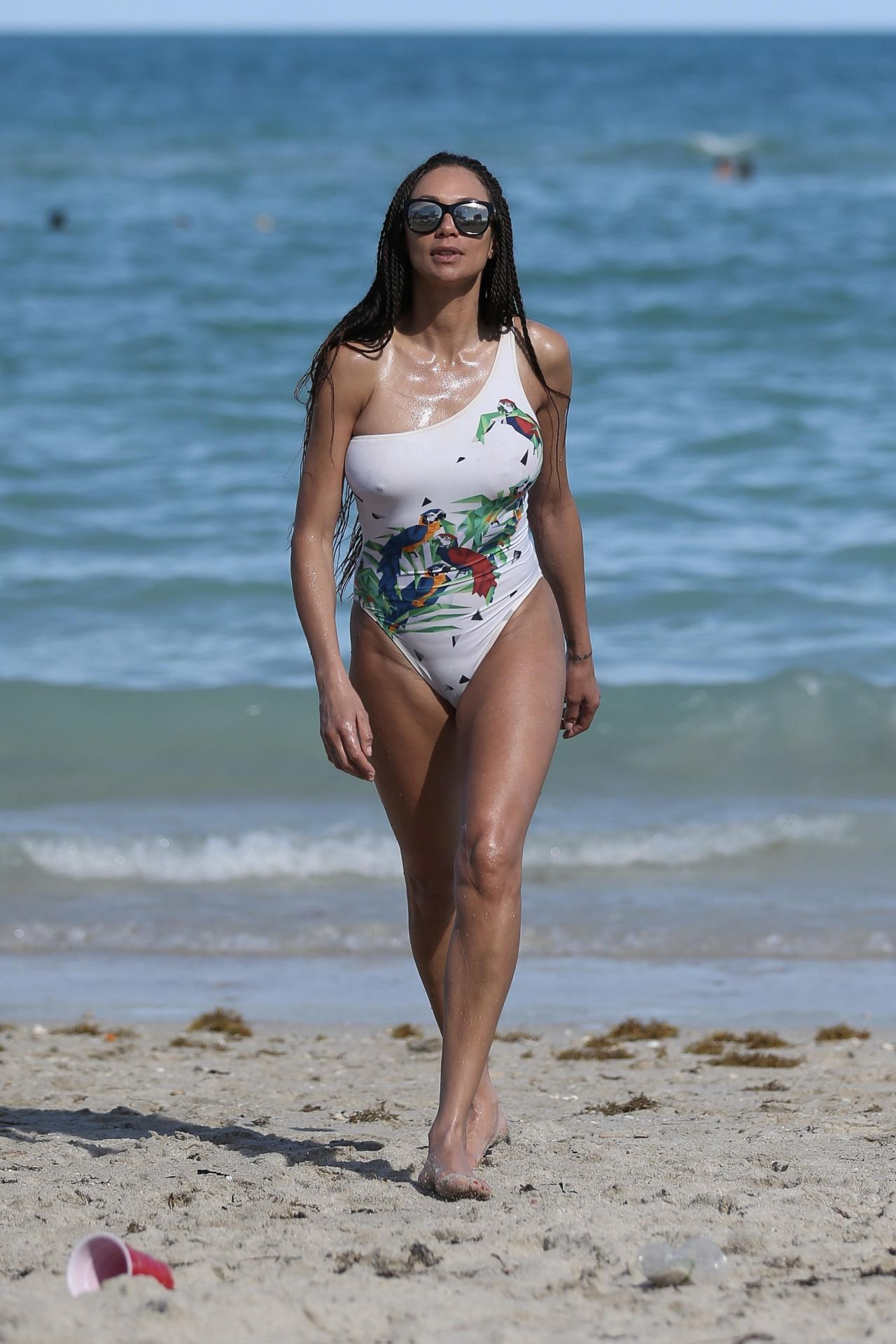 Lilly Becker In Swimsuit On The Beach In Miami 04022018