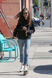 Lily Collins - Heading for Lunch at Tokyo Cube in Studio City 04/24/2018