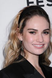 """Lily James - """"Little Woods"""" Screening - 2018 Tribeca Film Festival in NYC"""