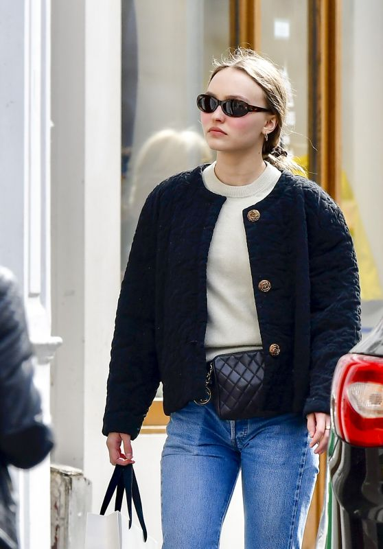 Lily-Rose Depp Casual Style - Paris 04/29/2018