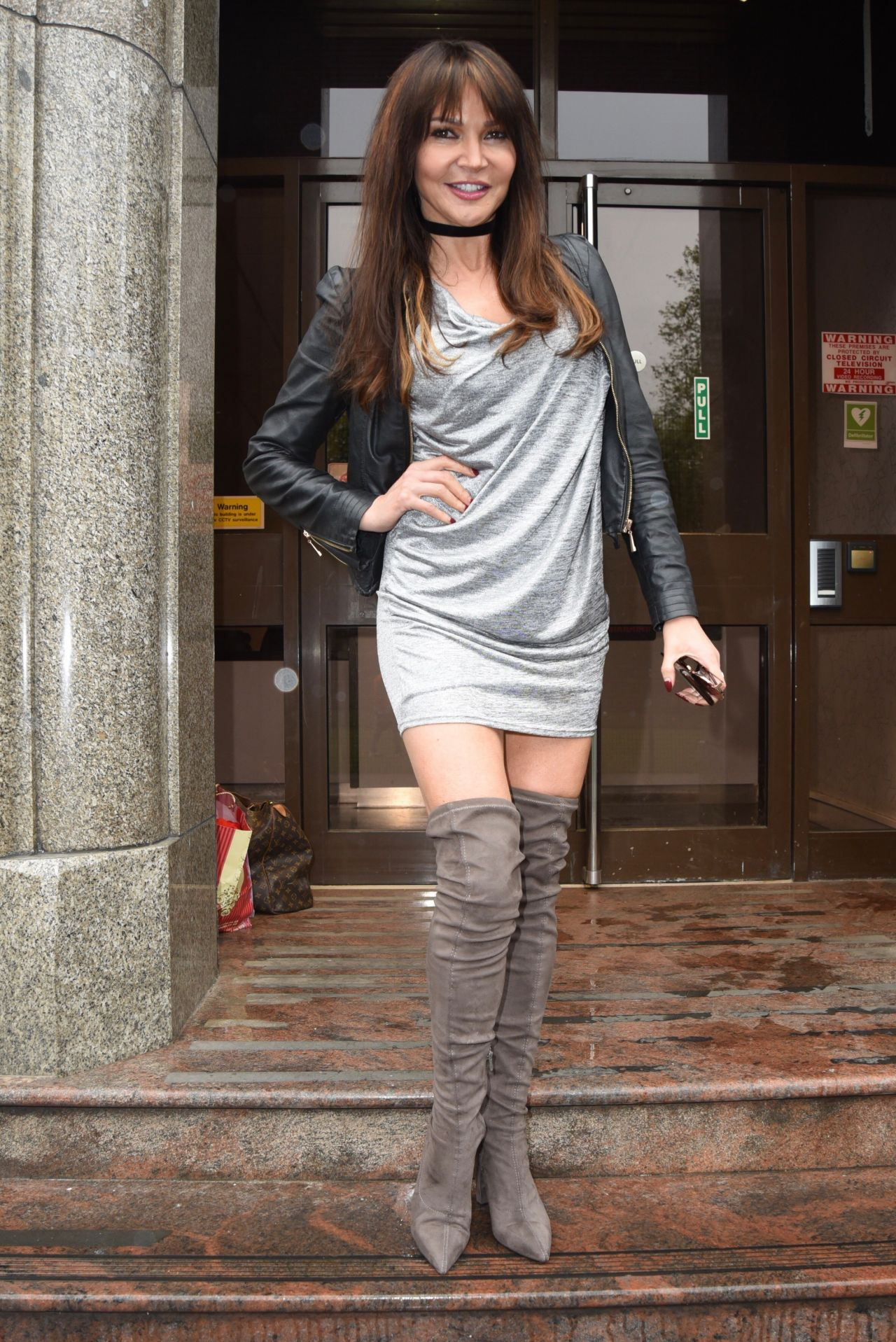 Lizzie Cundy - Arriving at Her New TalkRADIO Showbiz Show ...