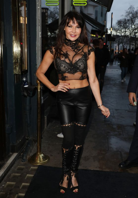 Lizzie Cundy - James Inghams Jog On to Cancer Part 6  at Cafe de Paris in London 04/04/2018